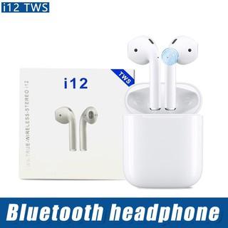 [Mã ELFLASH5 giảm 20K đơn 50K] (GIÁ SẬP SÀN) Tai Nghe Bluetooth mini I12 TWS Công nghệ Cảm Biến Vân Tay