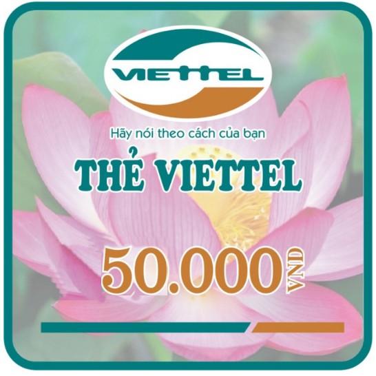 Mã thẻ và seri Viettel 50K