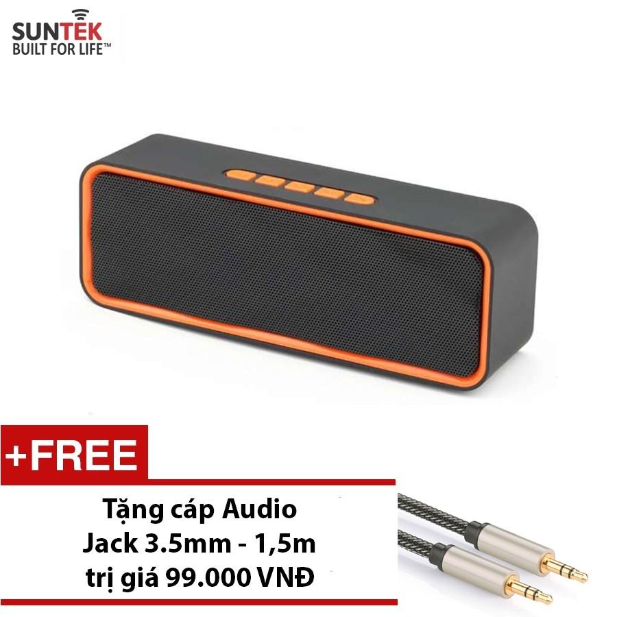 LOA Bluetooth SUNTEK SC211 Cam đen + Tặng Jack 3.5mm