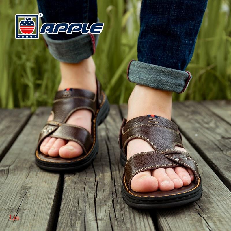 Giày Sandal Da Đế Mềm Thời Trang 2020 Cho Nam