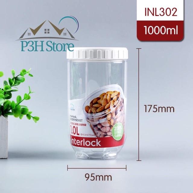 Bộ 4 hộp nhựa Interlock của Lock&Lock (2x1L,2x500ml)