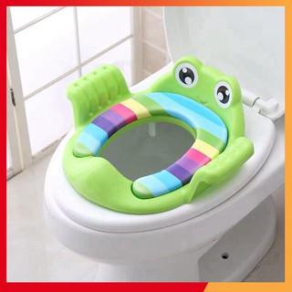Bệ thu nhỏ bồn cầu có tay vịn hình ếch
