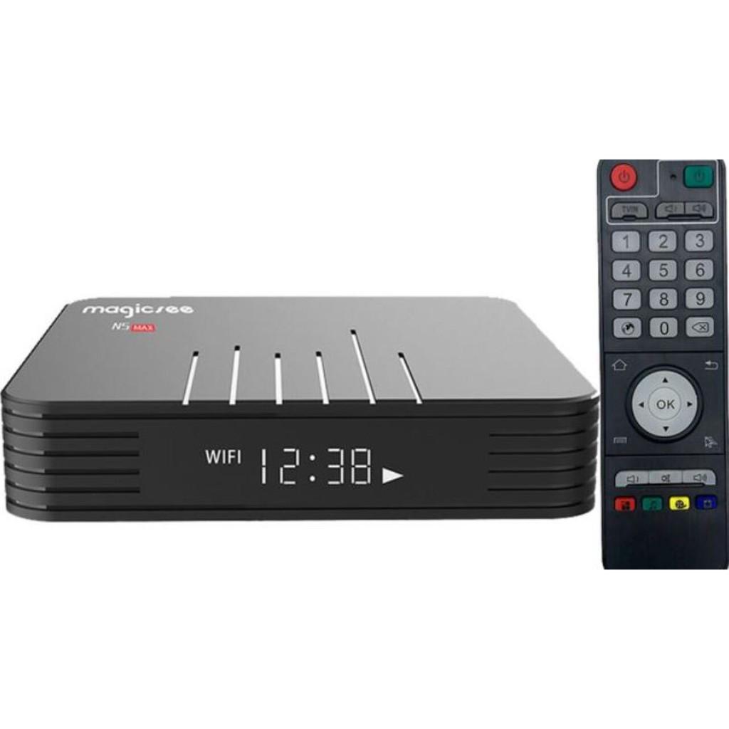Android TV Box Magicsee N5 Max 2020, Chip S905X3, RAM 4GB, Bộ nhớ 32GB, Hỗ trợ giọng nói