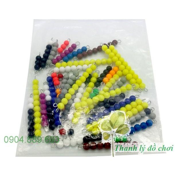 Bộ hạt cườm - Short bead chains - Giáo cụ montessori