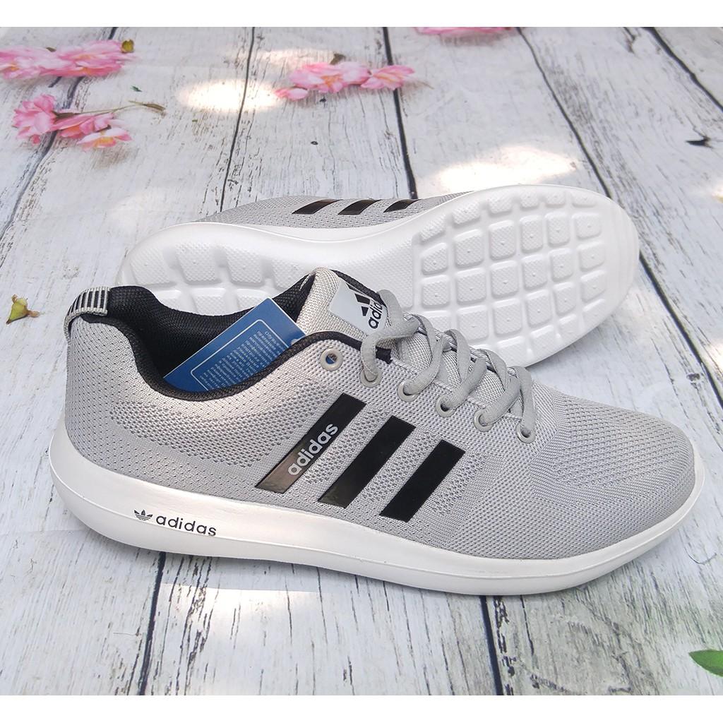 Giày Thể Thao Nam, Giày Adidas Nam Ghi Đen Hàng Đẹp