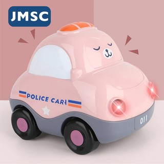 ▥✠JMSC Voice control Mini Model Police Cute Car Dump Truck Ambulance Cement Mixer Excavator Fire Engine Baby Toys for Boys Girls