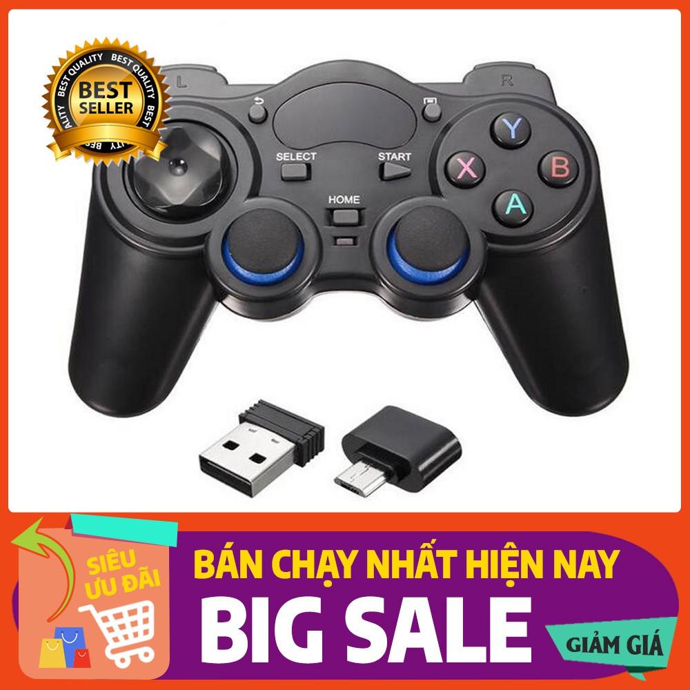 Tay cầm chơi game không dây cho Android tivi, smartphone Android, tivi box,  laptop, PC
