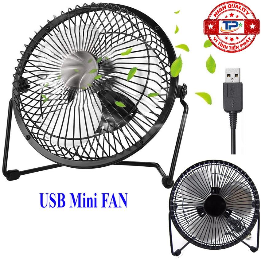 Quạt USB Mini Fan lồng sắt 20cm Quay 360 độ Tiện Dụng - Fan Lileng 819 TPF1