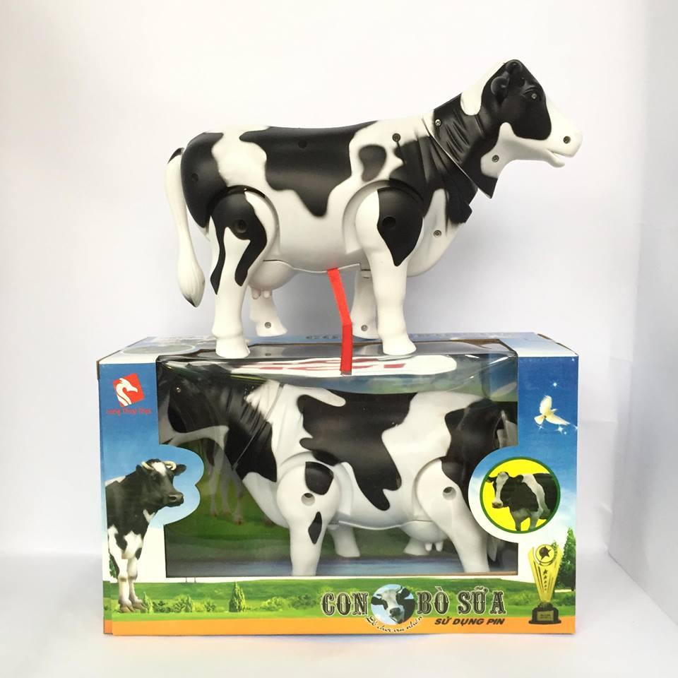 Đồ Chơi Mô Hình Bò Sữa Biết Đii Và Phát Nhạc Vui Nhộn Cho Bé(Hàng VN)