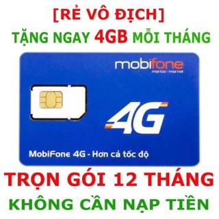 Sim 4G Mobi MDT250A 4Gb/tháng – Miễn phí 12 tháng không nạp tiền