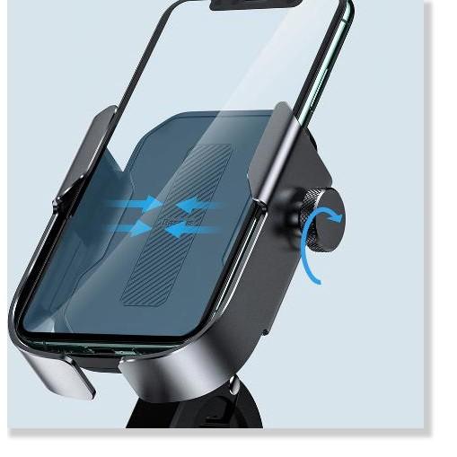 Giá Đỡ Điện Thoại Có Chân Kẹp Vào Tay Lái Moto, Xe Đạp, Xe Máy Cho Iphone Samsung Xiaomi - Thương Hiệu Baseus