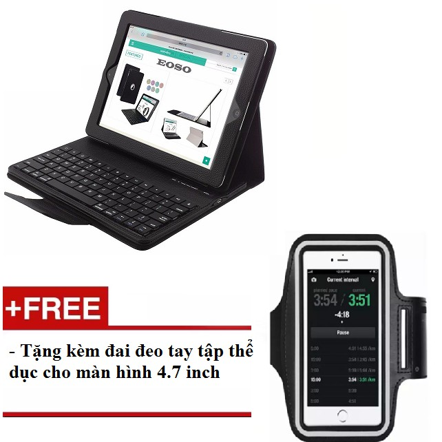 Bàn phím kiêm bao da Bluetooth cho iPad màn hình 9.7 inch - tặng kèm đai deo tập thể dục - 3183811 , 1296005400 , 322_1296005400 , 1100000 , Ban-phim-kiem-bao-da-Bluetooth-cho-iPad-man-hinh-9.7-inch-tang-kem-dai-deo-tap-the-duc-322_1296005400 , shopee.vn , Bàn phím kiêm bao da Bluetooth cho iPad màn hình 9.7 inch - tặng kèm đai deo tập thể