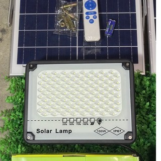 Đèn Pha Năng Lượng Mặt Trời Chống Chói 100W Siêu Sáng Bảo Hành 2 Năm