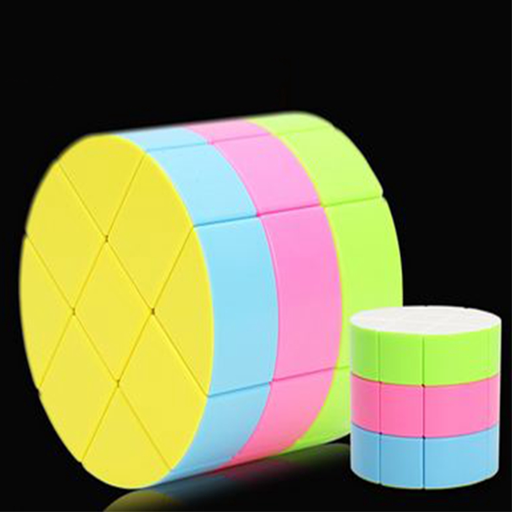 High Quality 3×3 Cylinder Magic Cube Speed Toy Colorful