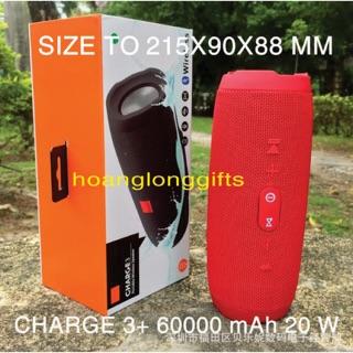 [Mã ELFLASH5 giảm 20K đơn 50K] Loa Bluetooth Charge 3+ kiêm sạc dự phòng 1500 mAh Loabluetooth
