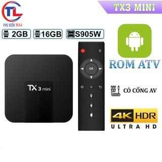 Android Tivi Box TX3 mini – 2G Ram và 16G bộ nhớ chính hãng Tanix – Hàng Chính Hãng