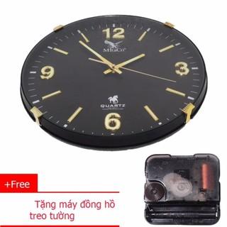 Đồng Hồ Treo Tường MitaCo (M133) 34cm đen + Tặng 01 máy đồng hồ treo tường