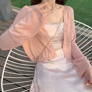 Áo khoác crotop mỏng cardigan dáng sơ mi cho nữ 2020-jack