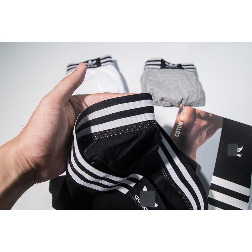 [Combo]- Hộp 3 sịp đùi boxer A!das - quần lót nam