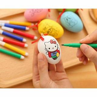 Bộ trứng tô màu siêu đáng yêu + 4 bút màu