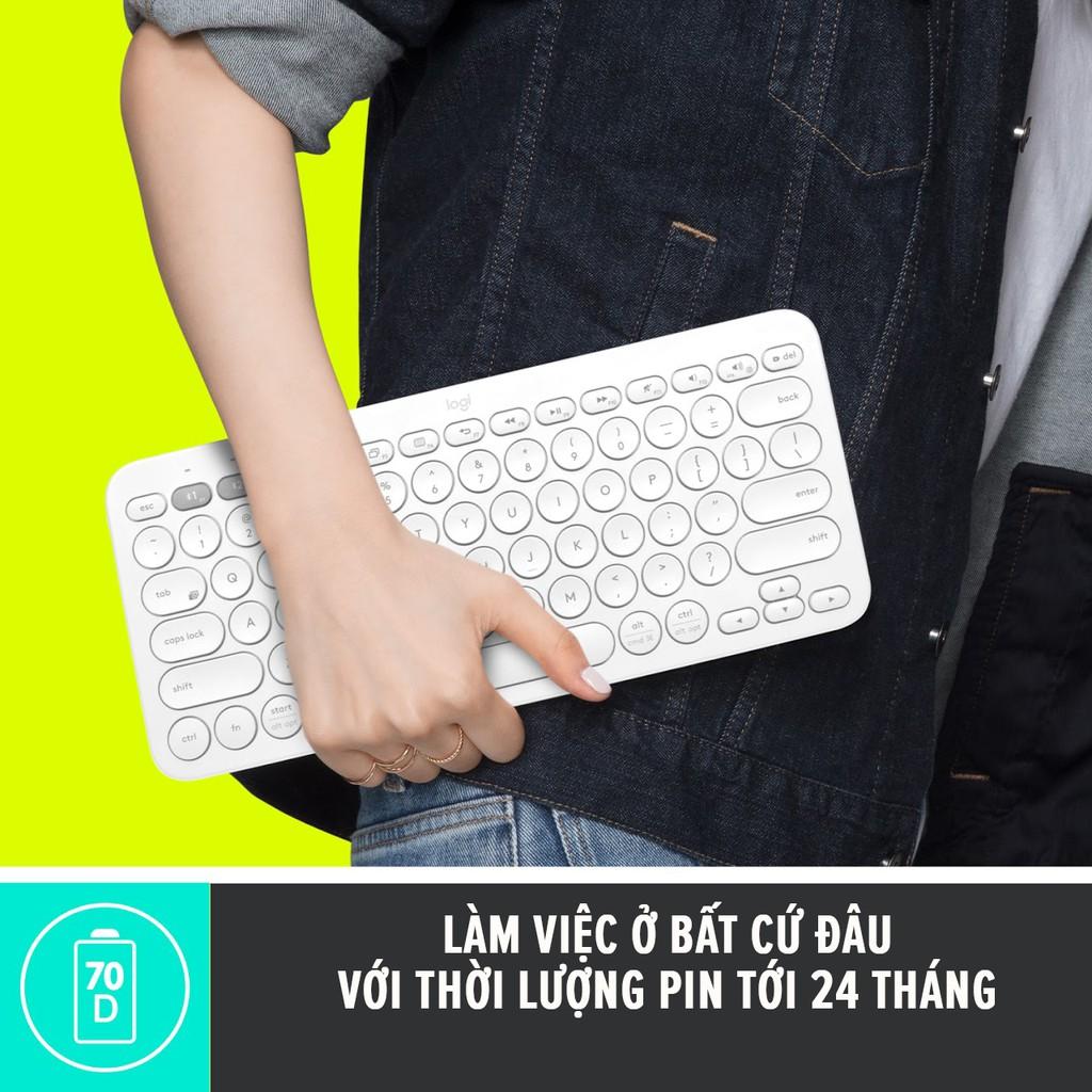 Bàn phím Bluetooth Logitech K380 Multi-Device - Kết nối Bluetooth cùng lúc 3 thiết bị