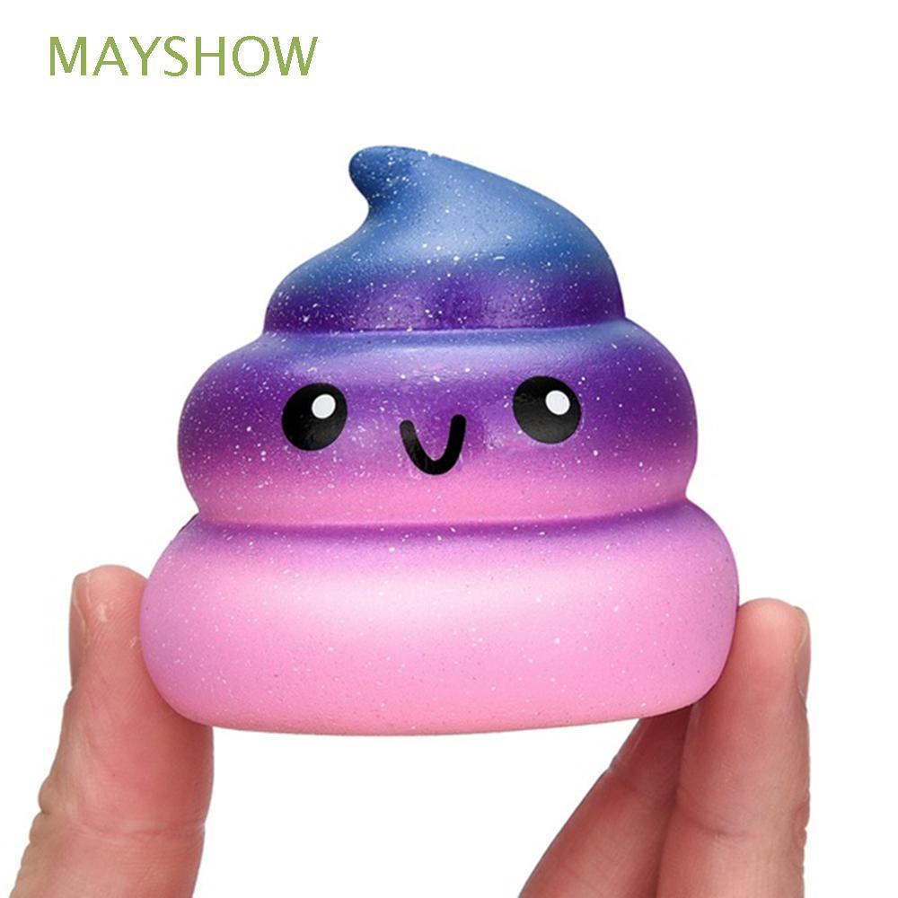 Novelty Funny Gags Antistress Jumbo Soft Charm Galaxy Poo