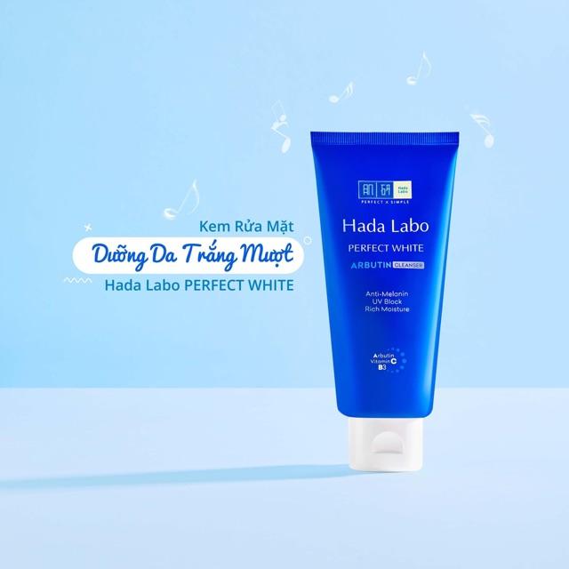 sữa rửa mặt Hada Labo Perfect White Arbutin Cleanser 80g   Shopee Việt Nam