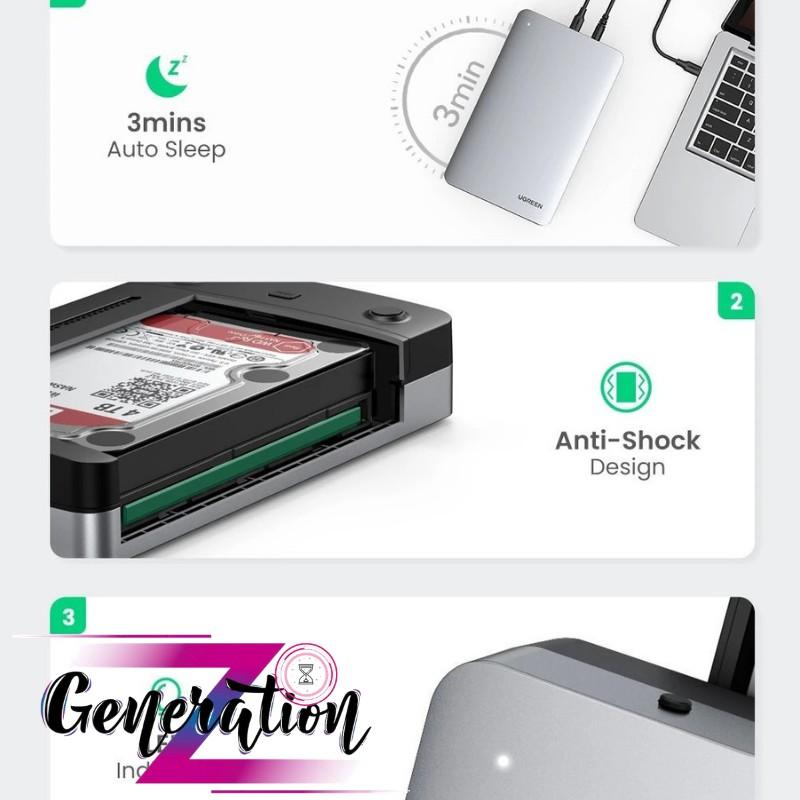 Hộp đựng ổ cứng 3.5 chuẩn USB Type-C 3.1 thế hệ 2 Ugreen 70797