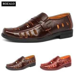 𝐑ẻ 𝐓Ế𝐓 xa kho Giày lười nam đục lỗ da bò Rozalo R3586 Siêu Đẹp hàng cso bảo hành [ SALE ] . . 🌟 2020 . : ₁ ^ ^ ; ༔