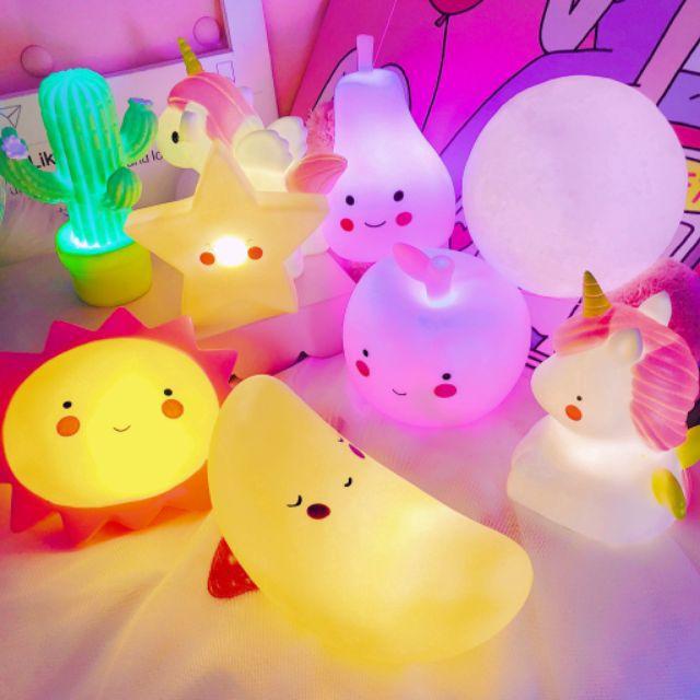 Đèn ngủ led hoạt hình, nhiều hình dễ thương cho bé