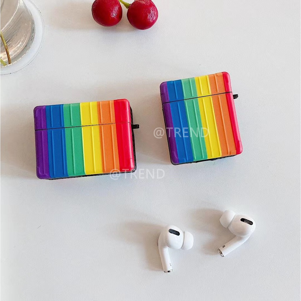 Rainbow cartoon Wireless Bluetooth Earphone Case for airpods 1 2 silicone soft cover airpods pro Accessories Case Cover