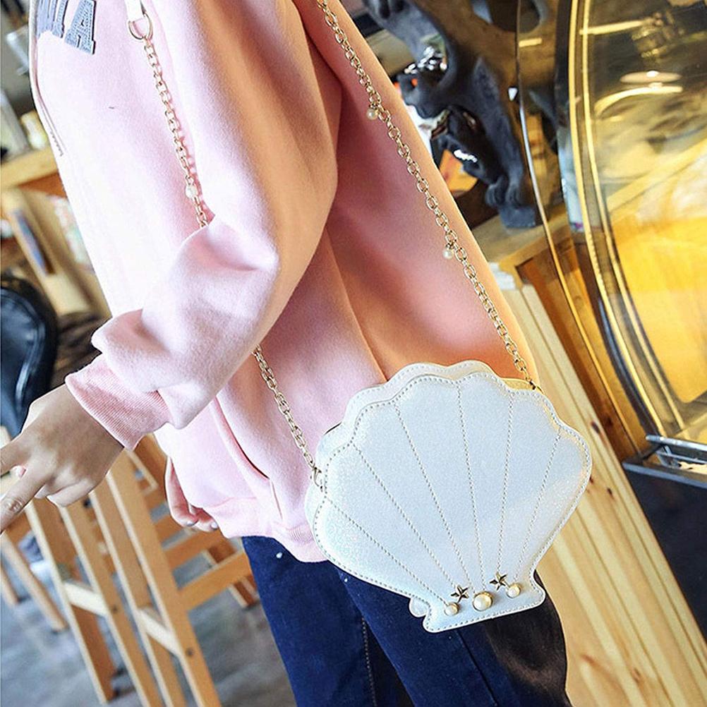 Shell Shape Glitter Crossbody Bag Women Fashion Shoulder Bags