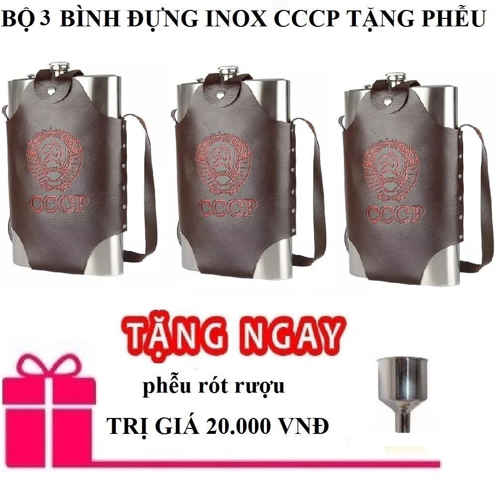 Bộ 3 bình 2 lít cccp dày 0.6mm kèm túi đựng bình tặng phễu shopaha247