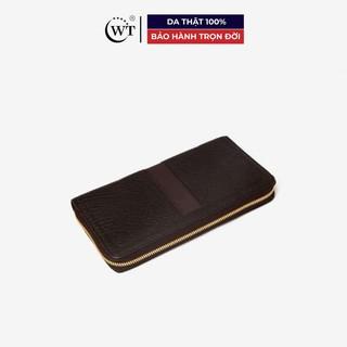 [Mã MABRL220 hoàn 15% đơn 99K tối đa 50K xu] Ví Cầm Tay Nam Da Dê Cao Cấp Màu Nâu, Màu Đen WT Leather 0824.1, 0824.2 thumbnail