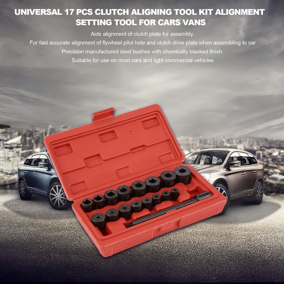 S+Universal 17 Pcs Clutch Aligning Tool Kit Alignment Setting Tool for Cars Vans