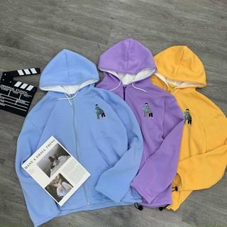 Áo Khoác Hoodie 3 Màu Hình Thêu Unisex_KN01 thumbnail