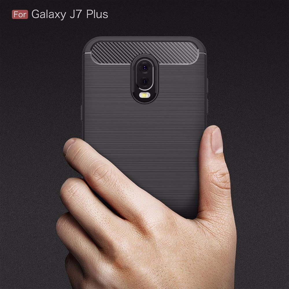 Ốp lưng silicon TPU chống sốc cho Samsung J7 Plus/C8/C7 2017