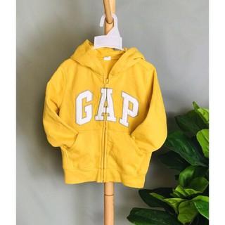 Áo Khoác Trẻ Em GAP Chữ Thêu Màu Vàng Nhạt