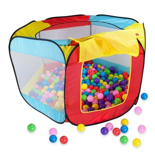 Play House Indoor and Outdoor Easy Folding Ocean Ball Pool Pit Game Tent Play Hut Girls Garden Kids