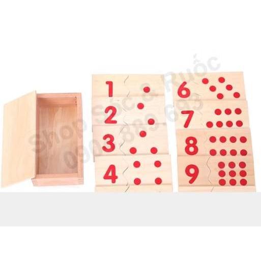 Thẻ chấm số lượng - Giáo cụ montessori