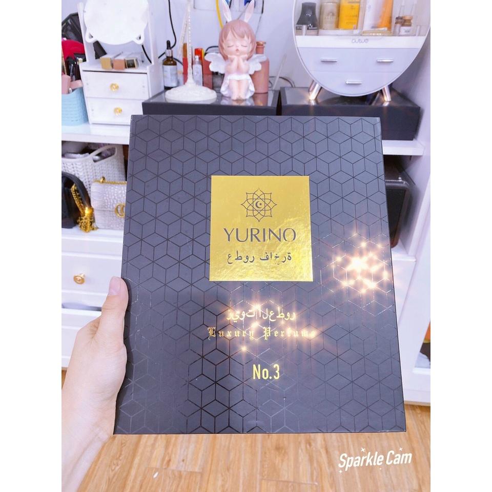 Set Nước Hoa YURINO 8 Chai Có Đèn Siêu Đẹp Bao Chuẩn