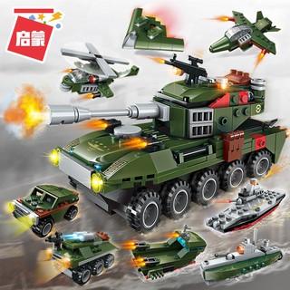[Hàng Chính Hãng] Bộ Đồ Chơi Xếp Hình 8in1 ENLIGHTEN Lắp Ráp LEGO Xe Tăng Quân Đội 361 Mảnh Ghép