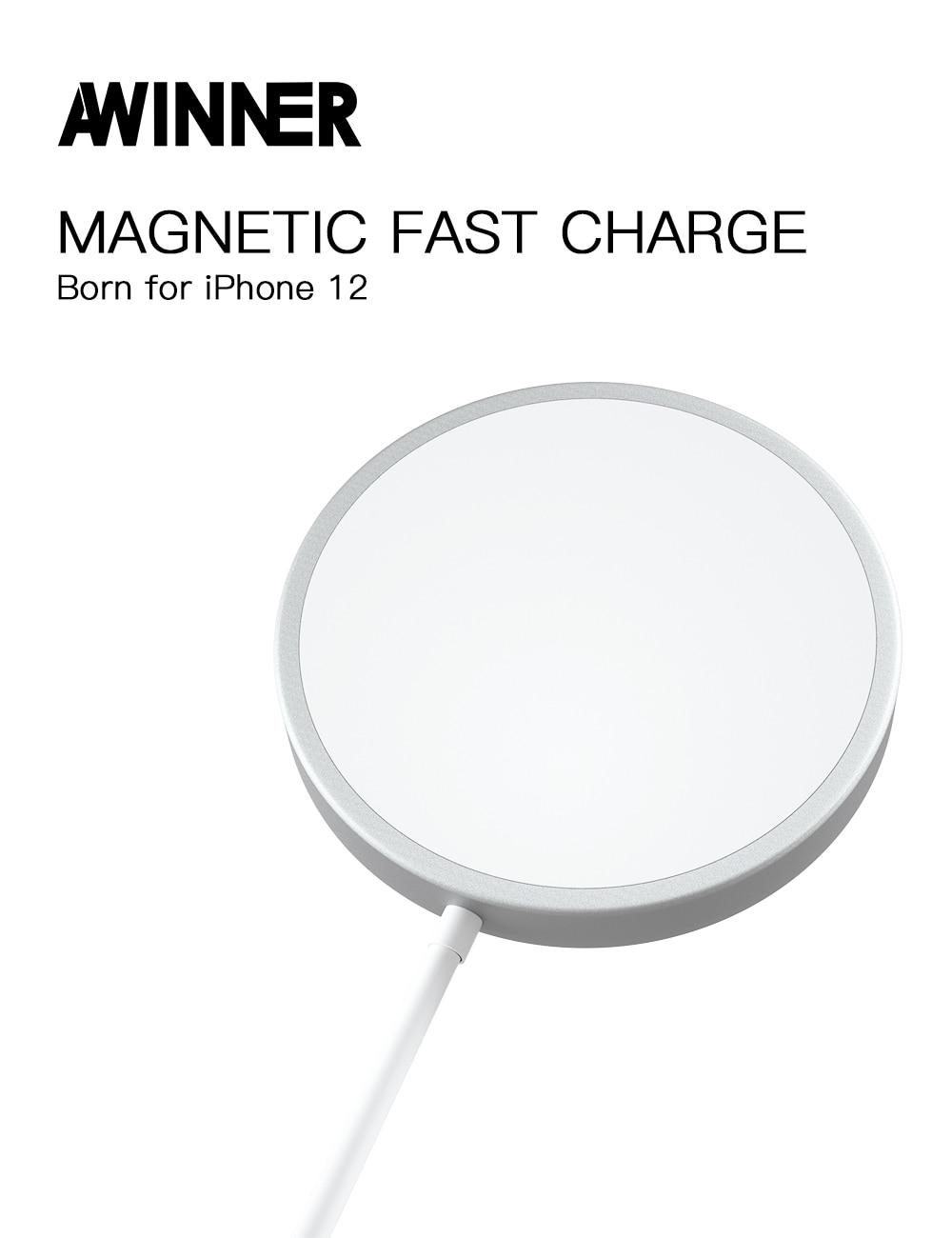 15W Magnetic Wireless Charger For iPhone12 pro Portable Magsafe Fast PD Charger Wireless Charging Pad Cable For iphone 12 Pro Max mini