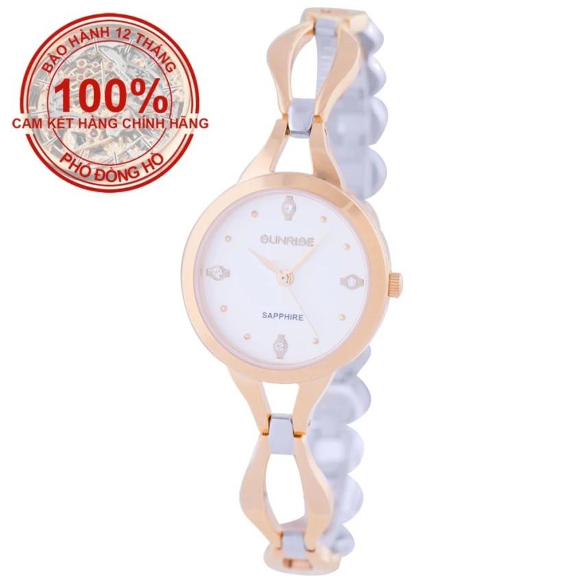 Đồng hồ nữ dây kim loại mặt kính sapphire chống xước Sunrise SL720LSK