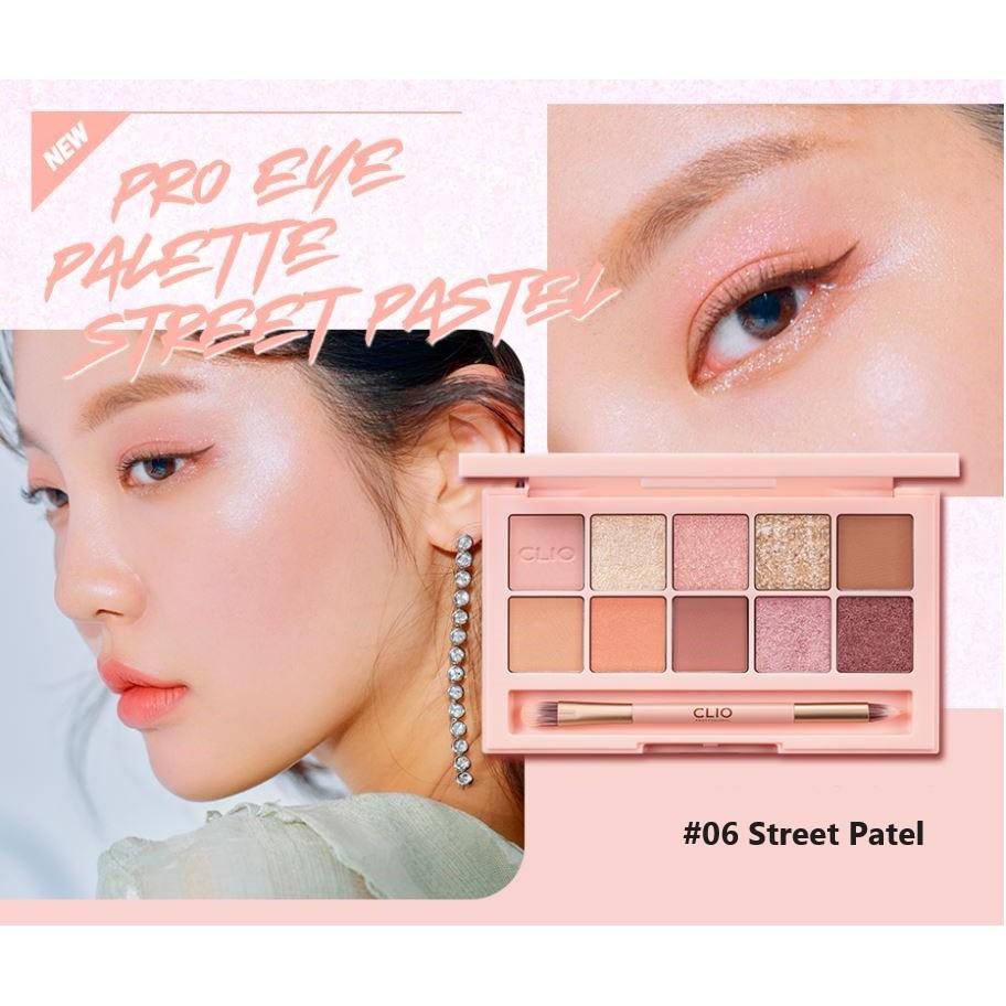 Bảng Phấn Mắt 10 Màu Clio Pro Eye Palette #06 STREET PASTEL | Shopee Việt  Nam