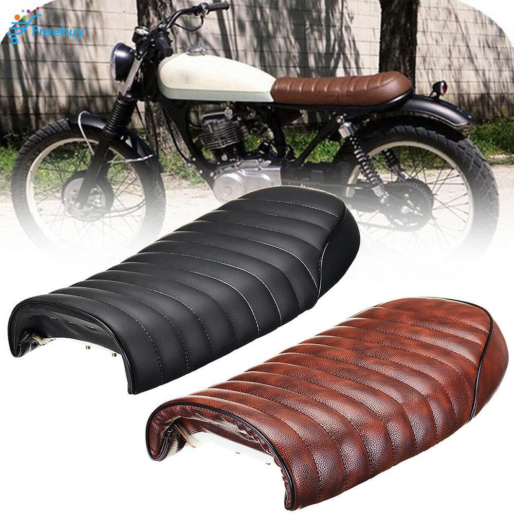 Fashionable Vintage Vintage Flat Saddle Racer Brat Saddle Refit Decoration 50.5cm X 19cm X 8cm Honda