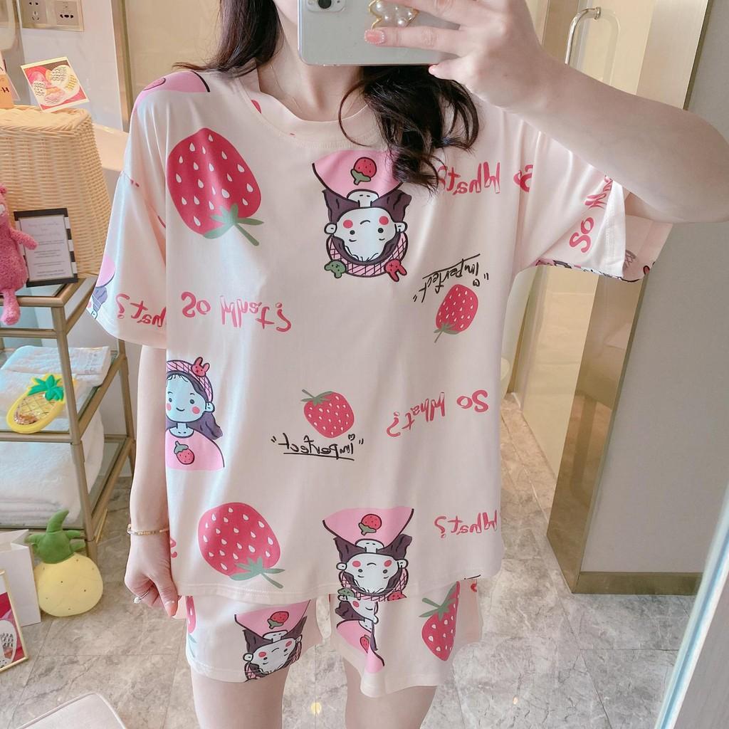 [Mã WASEPRN hoàn 20% xu đơn 99k] Bộ đồ mặc nhà cộc tay thun sữa mềm mát dễ thương [BC10]