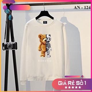 Áo Sweater in Pet đen trắng chất nỉ cotton