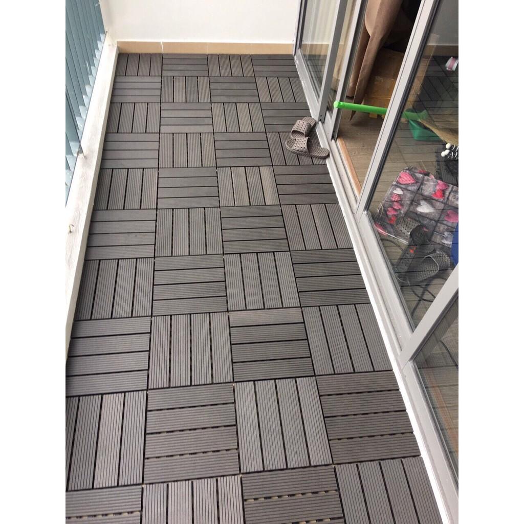 11 Vỉ = 1 mét vuông sàn gỗ nhựa composite Ghép Ban Công