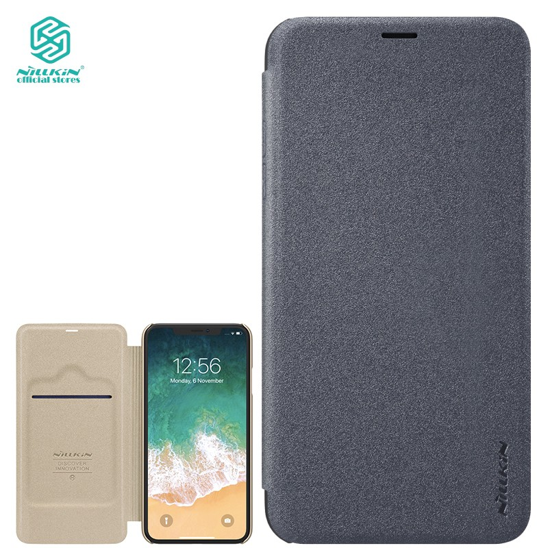 Nillkin Apple iPhone Xs Max flip leather case PC+PU Hard Cover